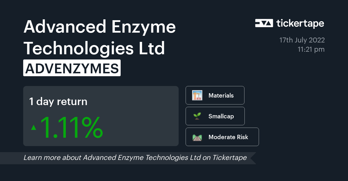 Advanced Enzyme Share Price