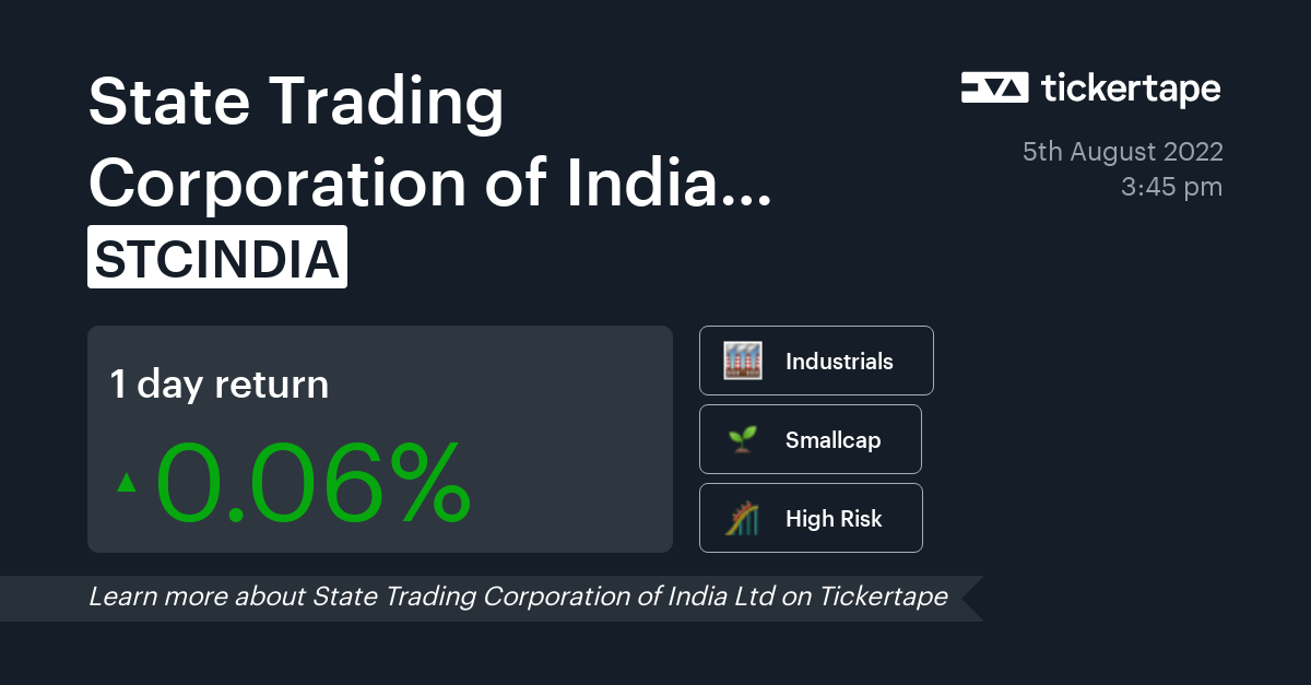 state trading corporation of india ltd